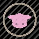 pork, animal protein, food, pork protein, meat food, protein icon