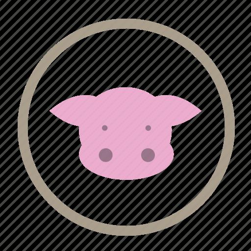 animal protein, food, meat food, pork, pork protein, protein icon