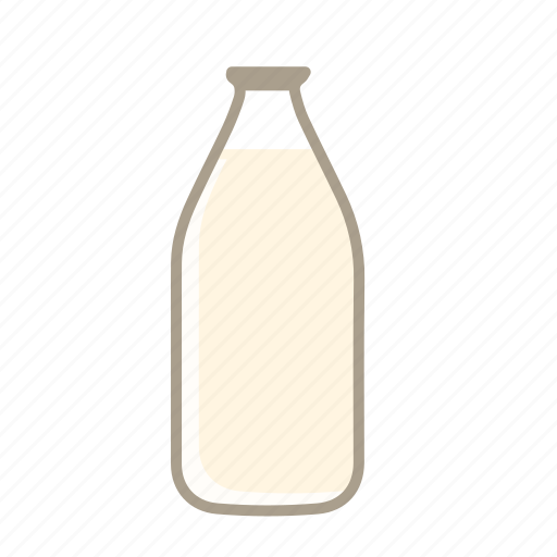 bottle of milk, cow milk, milk, milk bottle icon