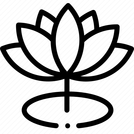 Buddhism Calm Flower Hindu Lotus Meditation Icon