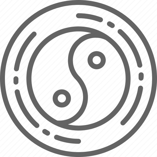alternative, balance, harmony, medicine, sign, yang, yin icon