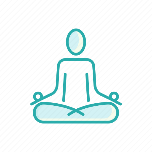 human, line, lotus, meditation, relaxation, thin, yoga icon