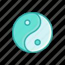line, thin, yin yang