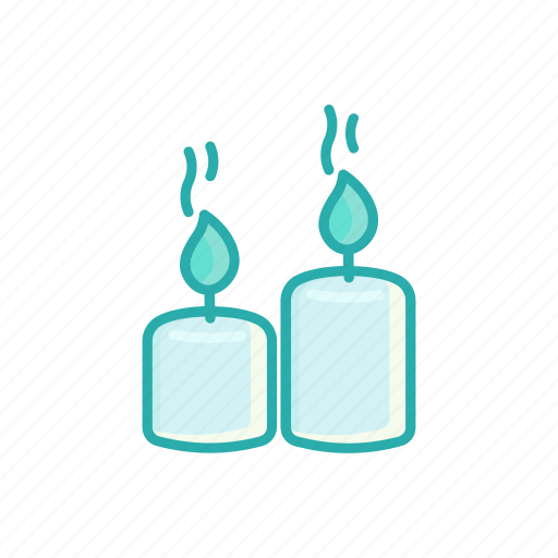 aromatherapy, candle, line, relax, spa, thin icon