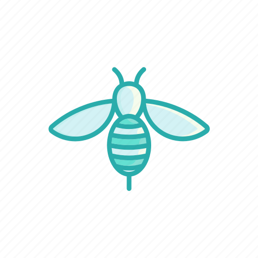 bee, honeybee, insect, line, thin icon