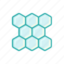 alternative, colored, honey, honeycombs, line, medicine, thin icon
