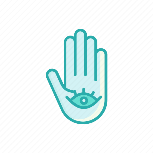 anchovy, eye, hand, line, mascot, thin icon