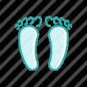 alternative, feet, line, massage, medicine, thin icon