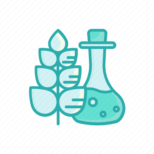 alternative, herbal, leaf, line, medicine, thin, vial icon