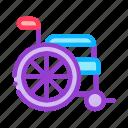 equipment, human, illness, wheelchair icon