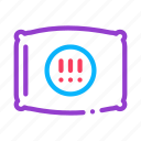 exclamatory, marks, pillow, round icon