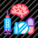 alzheimer, brain, mind, pills, syringe