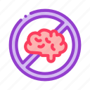brain, center, crossed, mind, out icon