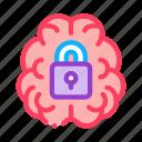 alzheimer, brain, lock, locked, padlock