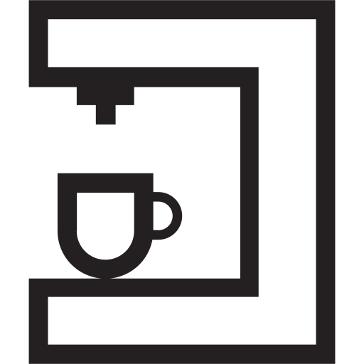 cafe, coffee, espresso, maker, morning icon