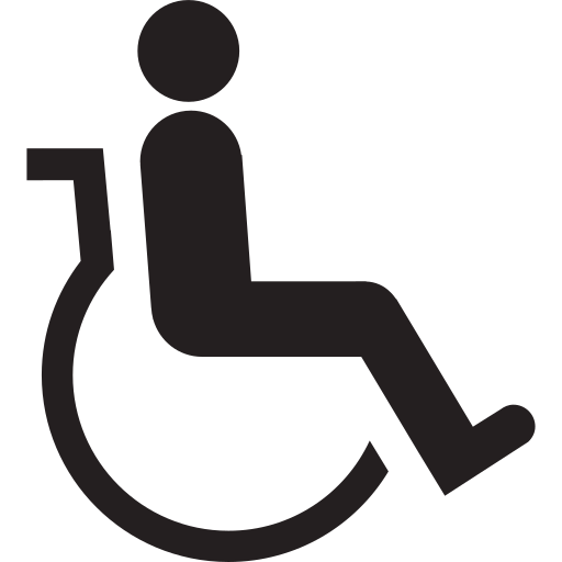 accessible, adapted, chairbound, disable, disabled, invalid, wheelchair icon