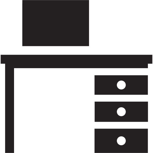 computer, desk, office, work, workplace icon