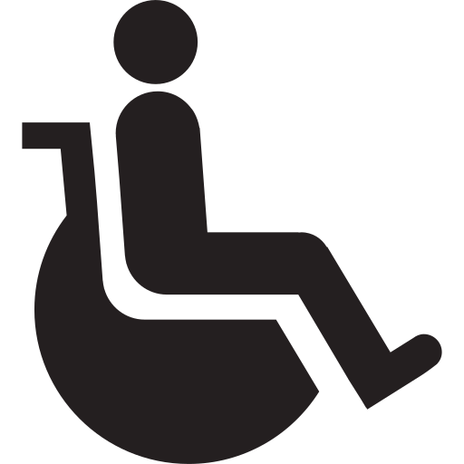 accessible, disabled, infirm, invalid, wheel, wheelchair icon