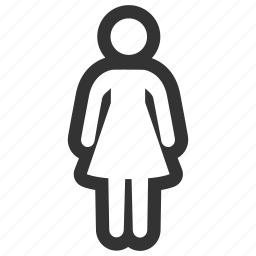 account, female, girl, human, person, user, woman icon