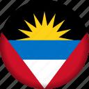 flag, antigua and barbuda, america, flags icon