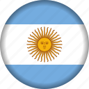 argentina, flag, world, south america, flags icon
