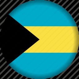 bahamas, flag, flags, north america icon