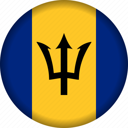 barbados, country, flag, north america icon