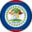 belize, country, flag, north america icon