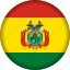 bolivia, country, flag, flags, south america, state icon