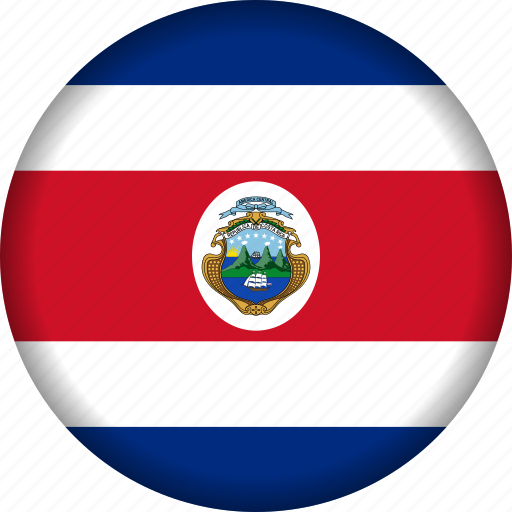 costa rica, flag, flags, north america icon