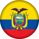 ecuador, flag, flags, south america icon