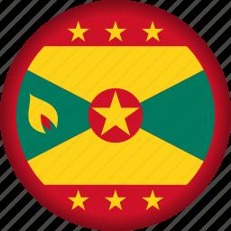 flag, flags, grenada, national, north america icon