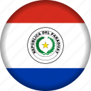 country, flag, flags, paraguay, south america icon