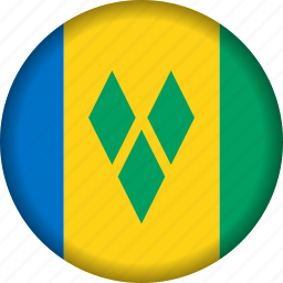 flag, flags, north america, saint vincent and the grenadines icon