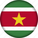 flag, flags, south america, suriname icon