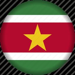 flag, flags, south america, suriname icon