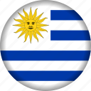 flag, south america, uruguay icon