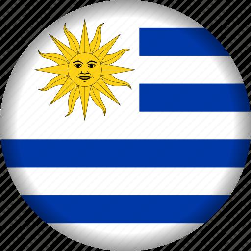 flag, south america, uruguay icon