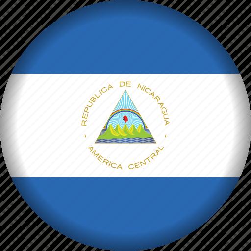 flag, flags, national, nicaragua, north america icon