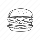 burger, fastfood, food, hamburger, meal, sandwich, snack icon