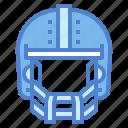 equipment, helmet, protection, sportive icon