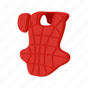 ball, cartoon, baseball, catcher, chest, guard, protector icon