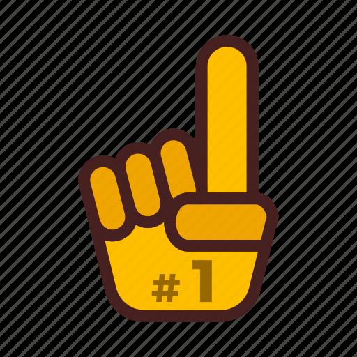 finger, foam, gesture, hand, support, supporter, team icon