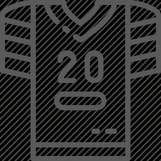 American, football, line, shirt, sport, t-shirt, uniform icon - Download on Iconfinder