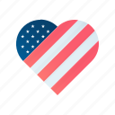 fourth, heart, july, patriotism, united states icon