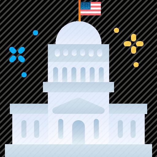 american, inauguration, president, washington, white house icon