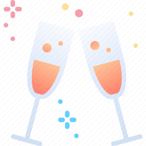 celebrate, champagne, drink, new, year icon