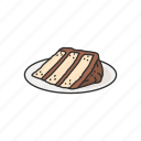 american snack, cake, dessert, food, pie, snack icon