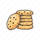 american snack, cookie, dessert, food, peanut, snack icon