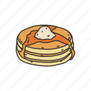 american snack, breakfast, cake, dessert, food, pancake, snack icon